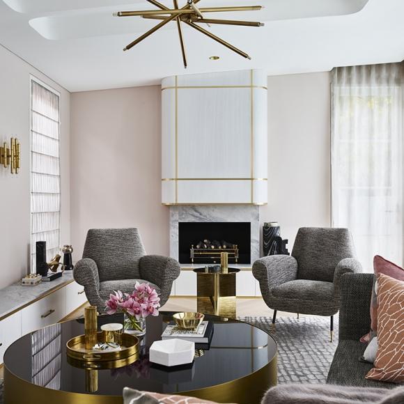 Greg Natale Sydney Interior Design Pink Living Room