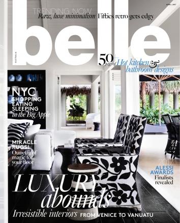Belle April 2017 Cover Greg Natale Design